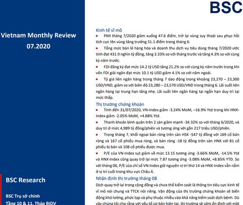 BSC: Vĩ Mô và Thị Trường tháng 7 - Sớm thích nghi với dịch lần 2