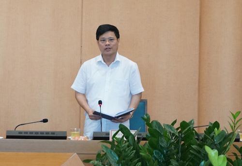 Ông Ngô Văn Quý, Phó Chủ tịch UBND TP, Phó trưởng ban Thường trực Ban Chỉ đạo phòng, chống dịch Covid-19 TP Hà Nội.