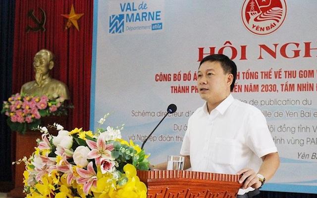 Ông Hoàng Xuân Đán – Chủ tịch UBND TP.Yên Bái (ảnh: Sở TNMT Yên Bái).