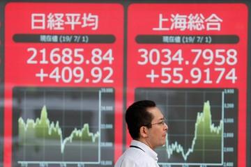 Chứng khoán châu Á trái chiều, thị trường Trung Quốc giảm mạnh nhất