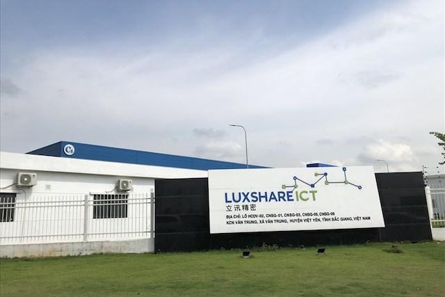 Trụ sở công ty Luxshare ICT tại Bắc Giang. Ảnh: Thảo - Phương.
