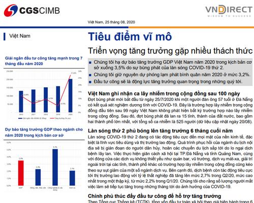 VNDirect: Tiêu điểm vĩ mô – Triển vọng tăng trưởng gặp nhiều thách thức