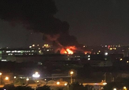 Cháy lớn ở Khu công nghiệp Tân Tạo