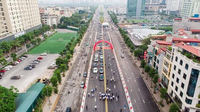 Hà Nội thông xe cầu vượt Nguyễn Văn Huyên - Hoàng Quốc Việt