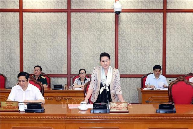 Chiều 28/8/2020, tại Trụ sở Trung ương Đảng, đồng chí Nguyễn Thị Kim Ngân, Ủy viên Bộ Chính trị, Chủ tịch Quốc hội chủ trì cuộc làm việc của Bộ Chính trị với Ban Thường vụ Tỉnh uỷ Lai Châu.