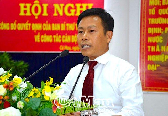 Thứ trưởng Lao động, Thương binh & Xã hội làm Phó Bí thư Tỉnh ủy Cà Mau