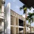 <p> Tọa lạc tại một khu vực yên tĩnh gần Hồ Tây, Hà Nội, ngôi nhà được thiết kế cho mục đích nghỉ ngơi cuối tuần của một gia đình trẻ.Ý tưởng thiết kế dựa trên các yếu tố như cách tổ chức không gian cho ngôi nhà cuối tuần ở thành phố, kích thước 6 x 10 m; sử dụng các vật liệu thân thiện, tạo không gian mộc mạc, thư thái.</p>
