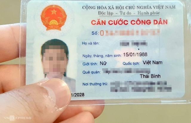 Thẻ căn cước công dân có mã vạch hiện chứa khoảng 20 thông tin.