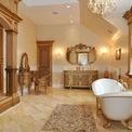 <p> Phòng tắm của nữ minh tinh Hollywood Melissa Gorga trong dinh thự ở Montville, Mỹ có thiết kế khá thú vị. Trong phòng tắm này có một lò sưởi bằng gỗ và đá cẩm thạch cỡ lớn. Dinh thự có giá 2,9 triệu USD.</p>