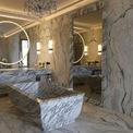 <p> Một phòng tắm tắm bên trong khách sạn xa xỉ Hôtel de Crillon ở Paris (Pháp) với bồn tắm được làm từ đá cẩm thạch Carrera nguyên khối nặng tới 2 tấn.</p>