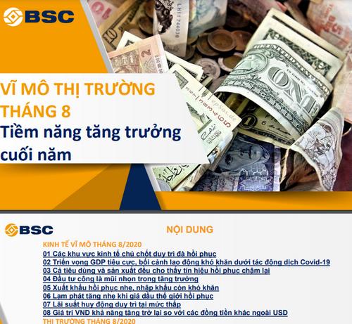 BSC: Vĩ mô và thị trường tháng 8 - Tiềm năng tăng trưởng cuối năm