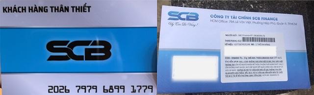 """Thẻ tín dụng """"lừa đảo"""". Ảnh do SCB cung cấp."""
