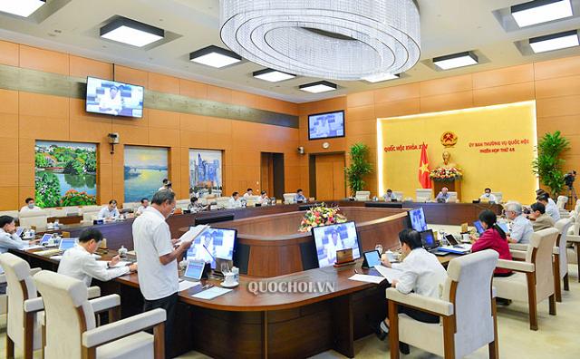 Ủy ban Thường vụ Quốc hội họp phiên thứ 48.