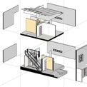 <p> Bản vẽ cấu trúc ngôi nhà với 2 tầng.</p>