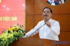 Bộ trưởng Nguyễn Xuân Cường: 'Buồn là phải soi kính hiển vi mới thấy một ít sản phẩm chăn nuôi Việt Nam xuất khẩu'