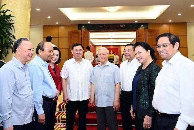 Bộ Chính trị làm việc với 20 đảng bộ để cho ý kiến vào phương án nhân sự cấp ủy