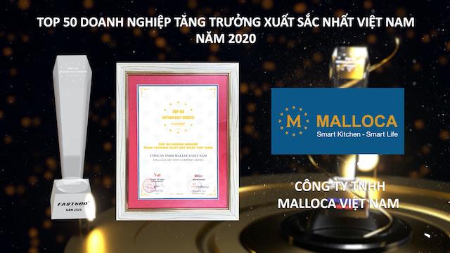 Malloca vừa được vinh danh Top 50 doanh nghiệp tăng trưởng xuất sắc nhất Việt Nam.