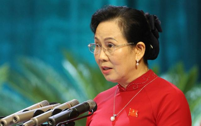Bà Lê Thị Thuỷ, Bí thư Tỉnh uỷ Hà Nam. Ảnh: Xuân Hoa