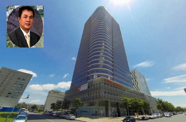 Petroland Tower (Q.7, TP.HCM) và Bùi Minh Chính (ảnh nhỏ)  ẢNH: NGUYÊN BẢO - BỘ CÔNG AN