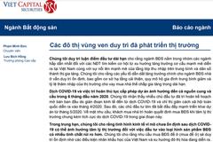 VCSC: Thị trường BĐS nhà ở - Các đô thị vùng ven duy trì đà phát triển thị trường