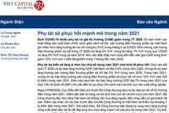 VCSC: Báo cáo Ngành Điện - Phụ tải sẽ phục hồi mạnh mẽ trong năm 2021