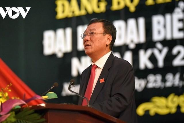 Ông Đoàn Hồng Phong tiếp tục làm Bí thư Nam Định