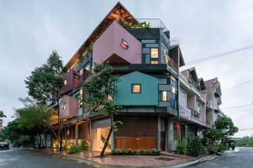 Ngôi nhà được gắn kết từ nhiều 'nhà gỗ' khác nhau tại TP Vũng Tàu