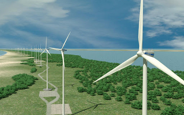 Nhà máy điện gió sử dụng nguồn năng lượng tái tạo, thân thiện với môi trường, phù hợp chủ trương và phát huy được tiềm năng tự nhiên.