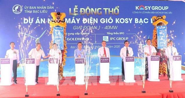8.000 tỷ đồng xây dựng Nhà máy điện gió Kosy Bạc Liêu