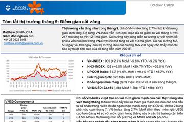 YSVN: Tóm tắt thị trường tháng 9 - Điểm giao cắt vàng