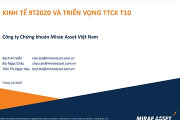 MASVN: Kinh tế tháng 9 và triển vọng thị trường chứng khoán tháng 10