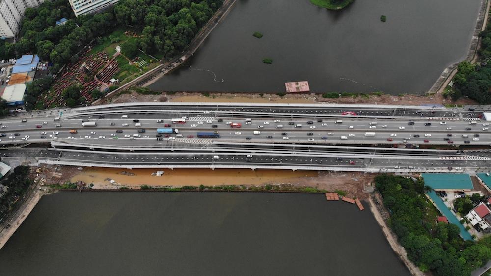 Hà Nội thông xe cầu vượt thấp hồ Linh Đàm 341 tỷ đồng