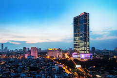Hai tòa nhà cao nhất Hà Nội là Keangnam Landmark và Lotte Center đều đang lỗ chồng lỗ