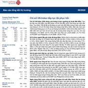 VCSC: Báo cáo tháng 9/2020 - VN-Index tiếp tục đà phục hồi