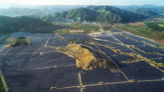 Nhà máy điện mặt trời Phú Yên. Ảnh: JICA.