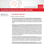 SSI Research: Diễn biến dòng vốn đầu tư toàn cầu tháng 9