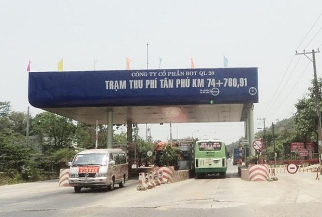 Dừng hoạt động trạm thu phí Tân Phú từ ngày 20/10