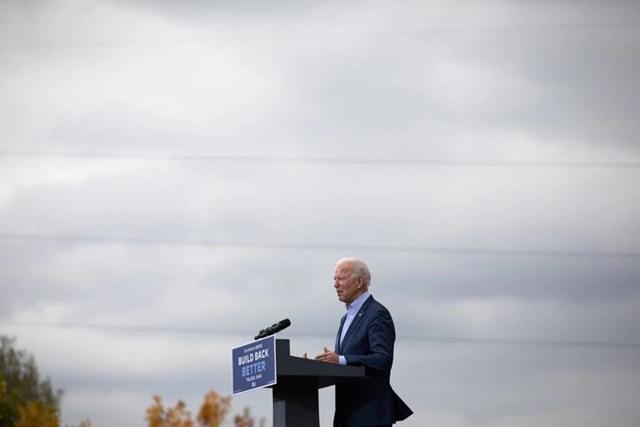 Ông Joe Biden phát biểu trong một buổi vận động tranh cử. Ảnh: NYT.
