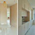<p> Để ánh sáng đi vào căn hộ, cả cửa sổ, sàn nhà, tường và trần nhà đều được phủ một màu trắng đồng nhất. Nó kết hợp các mặt phẳng riêng lẻ thành một mặt phẳng màu duy nhất, làm cho các vật thể trở nên nổi bật.</p>