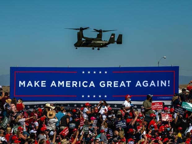 Chiến dịch của Trump 'đốt' hết nửa tiền quỹ tranh cử trong tháng 9