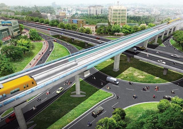 Phối cảnh Dự án Đường sắt đô thị tuyến số 5, Văn Cao - Ngọc Khánh - Láng - Hòa Lạc.