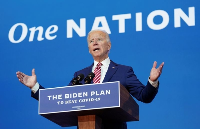 Ứng viên tổng thống đảng Dân chủ Joe Biden. Ảnh: Reuters.