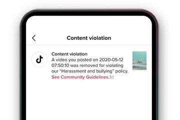 TikTok sẽ cho người dùng biết lý do video bị xóa