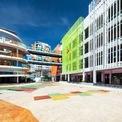 <p> Công trình có quy mô xây dựng 2500 m2 tại khu vực trung tâm quận Cầu Giấy, Hà Nội với kiến trúc rất khác biệt. Trường có độ thích ứng cao với các điều kiện tư nhiên rất hạn chế và đặc thù khu vực trung tâm nội đô.</p>