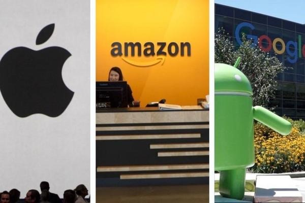 Doanh thu Apple, Amazon, Alphabet tăng vọt