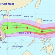 Siêu bão Goni sức gió tới 220 km/giờ di chuyển nhanh vào Biển Đông
