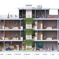 <p> Không gian mặt cắt của ngôi nhà.</p>