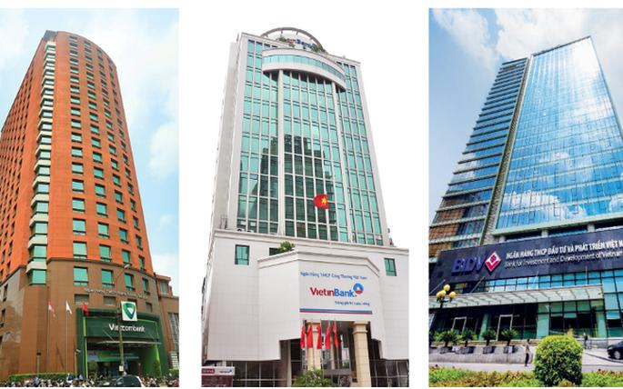 Biến động kết quả kinh doanh của Vietcombank, VietinBank và BIDV