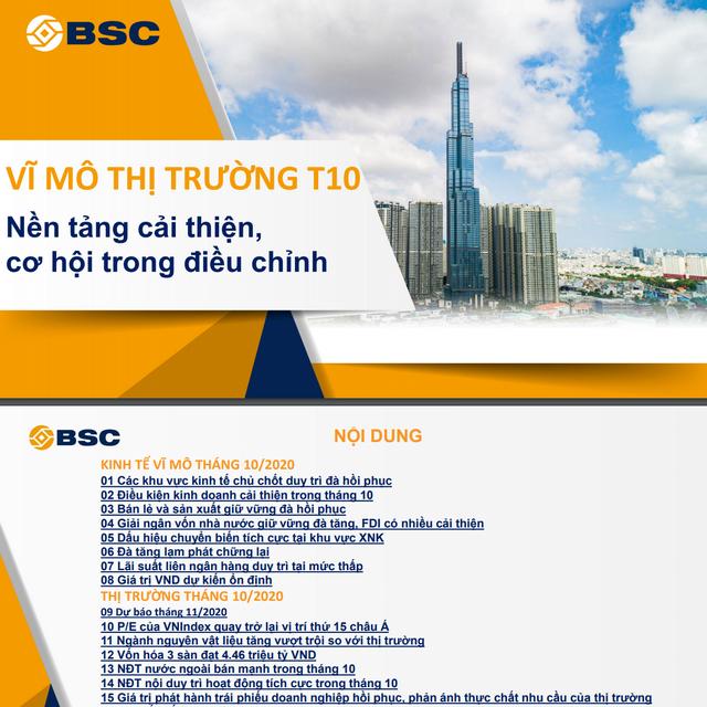 BSC: Vĩ mô và thị trường tháng 10 - Nền tảng cải thiện, cơ hội trong điều chỉnh