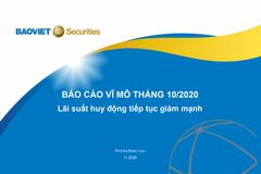 BVSC: Báo cáo vĩ mô tháng 10/2020
